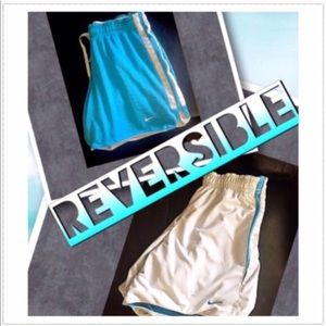 Nike reversible shorts blue & white xs
